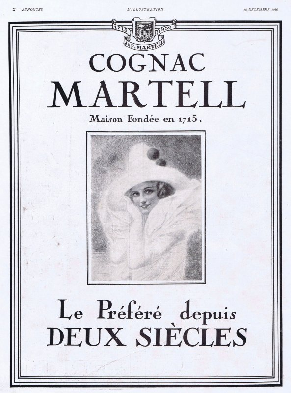 🍸 Spiritueux 💚   Cognac Martell 🍸