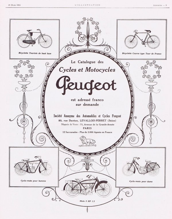 🚲 Cycles & Motocycles 🚲  Peugeot 🚲