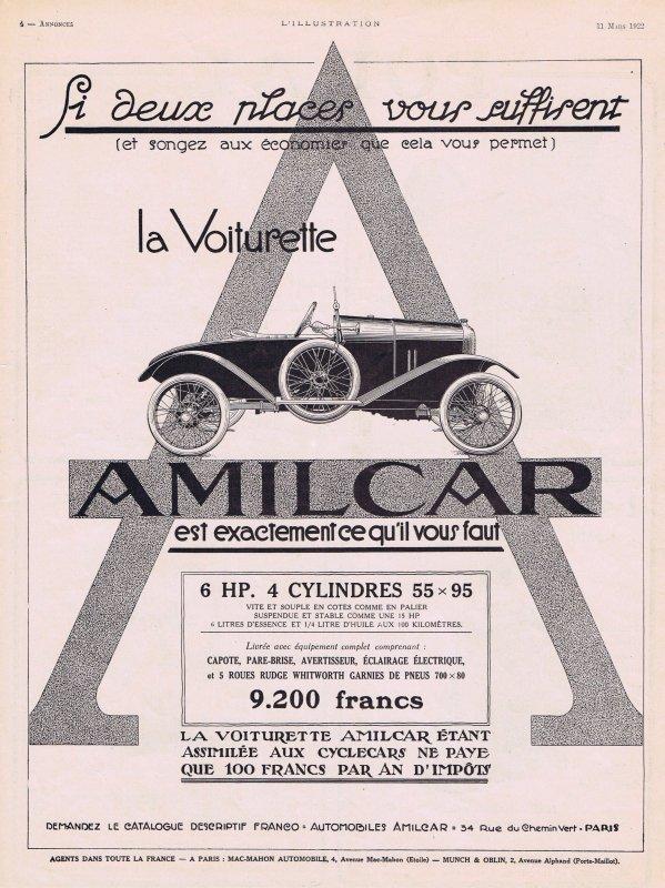 🚗 Automobile  🚗 Amilcar 🚗
