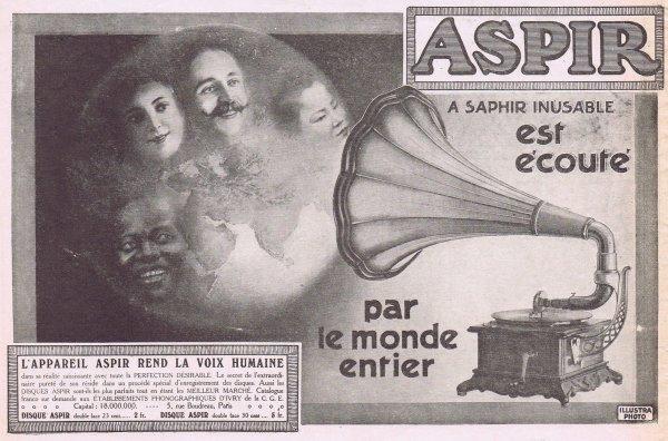 🎵  Musique 🎵 Gramophone Aspir 🎵