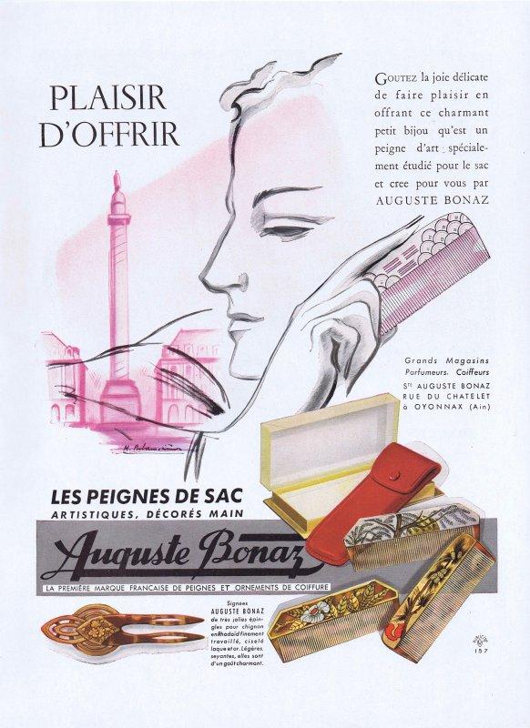 🎀 Coiffure  💆  les peignes d'Auguste Bonaz 🎀