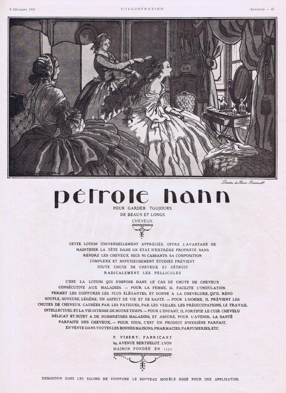 🎀  Chez le Coiffeur 💆  Pétrole Hahn société créé en 1885 🎀