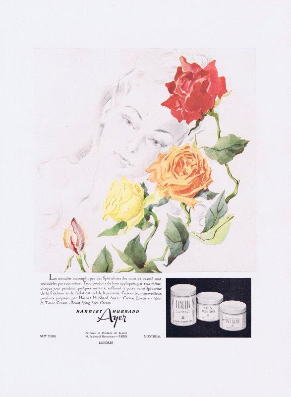 🌸 Ayer Harriet Hubbard - USA 🧴  Crèmes de beauté pour le visage 🌸