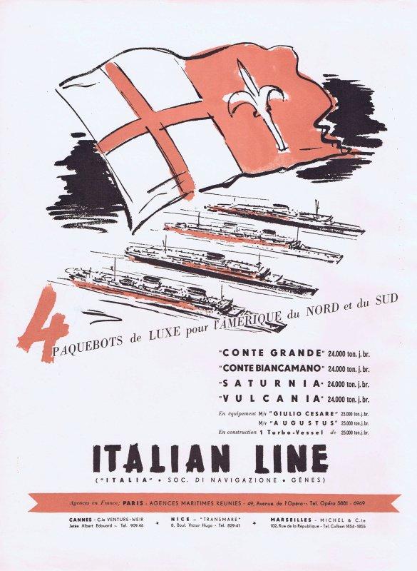 🛳 🚢 Transport  🕗 Paquebots Italian Line 🛳 🚢