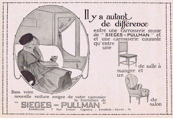 🚙 Automobiles  🚙 Accessoires -  sièges Pullman 🚙