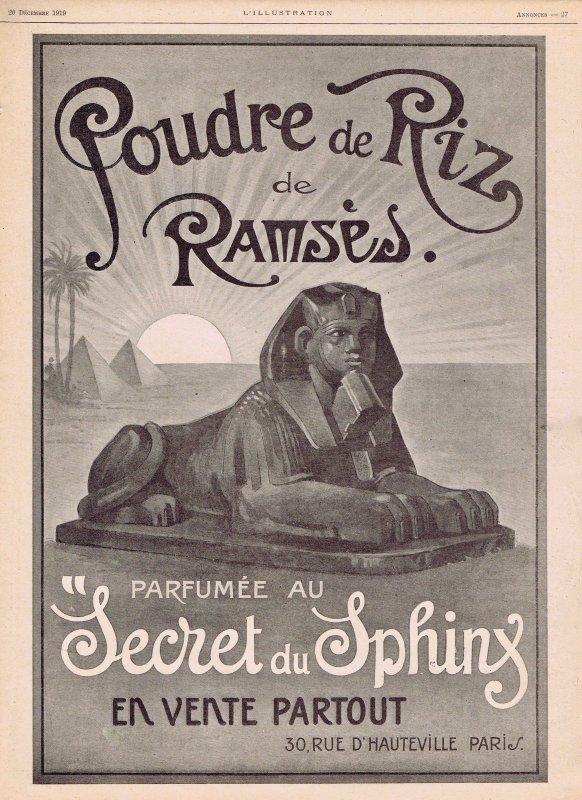 🌸 Ramsès ✿ Poudre de riz parfumée au Secret du Spinx   🌸