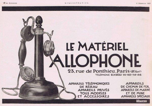 ☎ Téléphone  ☎  Allophone ☎