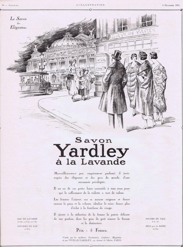 🌸 Yardley  🧼  Les savons à la lavande - pub de 1924 🌸