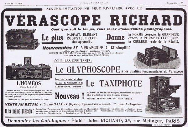 📷 Appareils photographiques 📷 Etablissements Jules Richard 📷