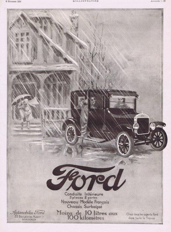 🚗  Automobile   🚗  Ford  🚗 Pubs de 1924 🚗