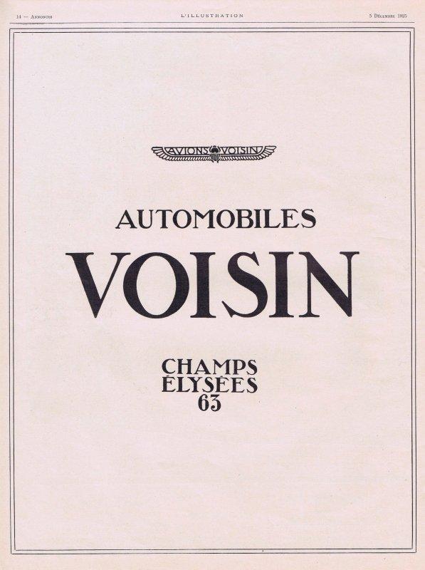 🚗 Automobile  🚗 Voisin 🚗