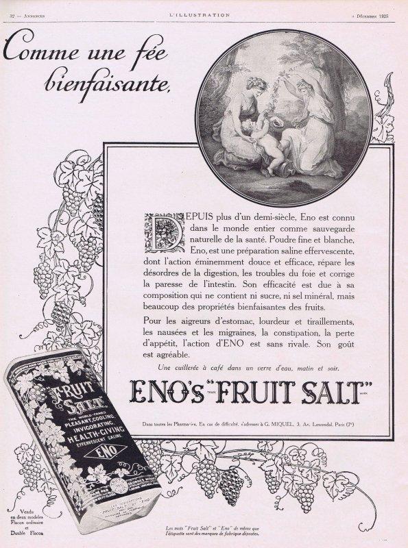 💊 Santé 💊 Eno's Fruit Salt - complément alimentaire  💊
