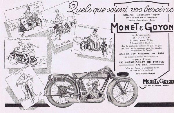 🚲   Les motos Monet & Goyon 🚲