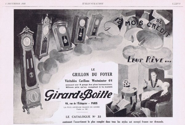 🕰 Pendules Girard & Boitte 🕰