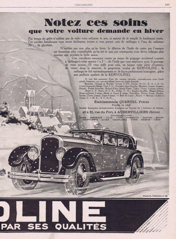 🚙  Automobiles 🚙 Accessoires - Kervoline huile pour les voitures 🚙