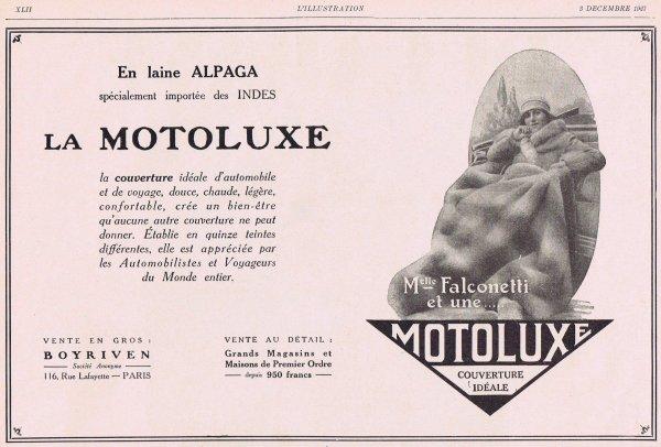 🚙 Automobiles  🚙 Accessoires - couverture Motoluxe 🚙