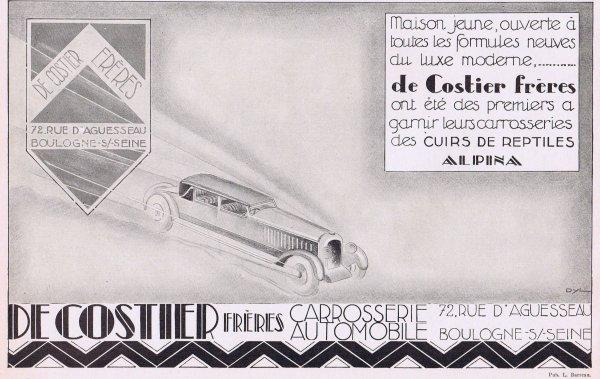 🚙 Automobiles  🚙 Accessoires  Carrosserie De Costier Frères 🚙