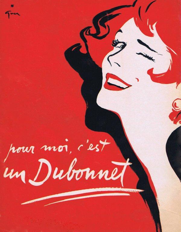 🎨 Dessin de René Gruau 🎨 🍸 Boisson Dubonnet 🍸