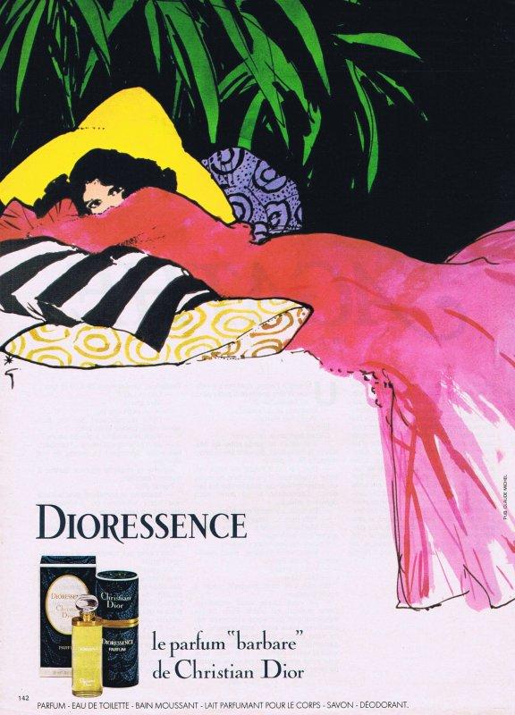 🎨 Dessin de René Gruau 🎨  🌸 Dior ✿ Dioressence 🌸