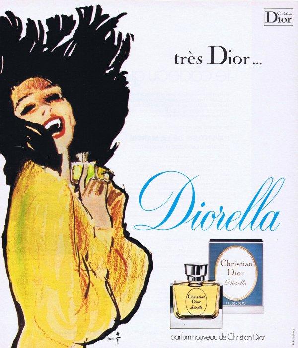 🎨 Dessin de René Gruau 🎨  🌸 Dior ✿ Diorella 🌸