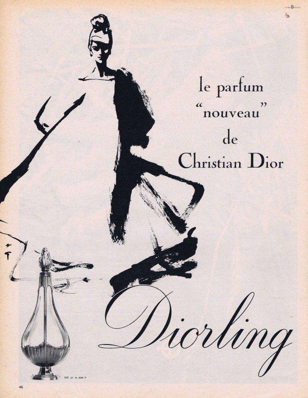 🎨 Dessin de René Gruau 🎨  🌸 Dior ✿ Diorling 🌸