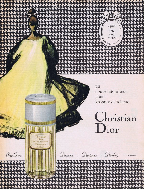 🎨 Dessin de René Gruau 🎨  🌸 Dior ✿ Diorama 🌸