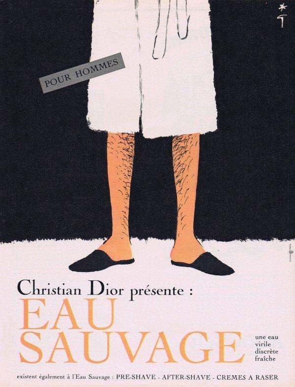 🎨 Dessin de René Gruau 🎨  🌸 Dior ✿ Eau Sauvage 🌸