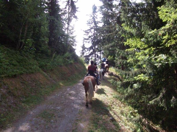 mais sans oublier la balade à cheval....