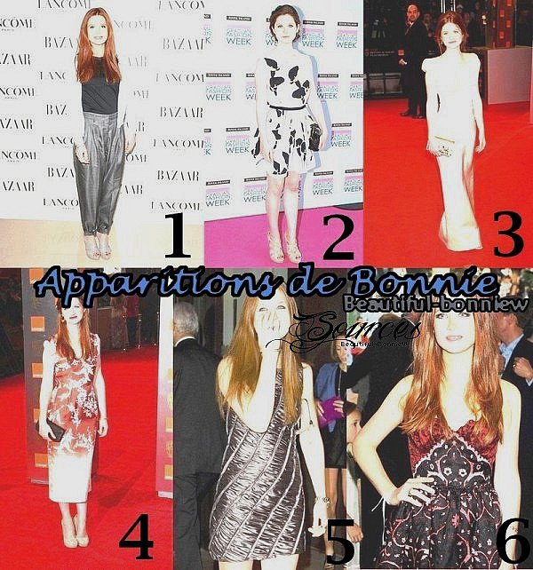 Apparitions de Bonnie : Quel tenues ? ;)
