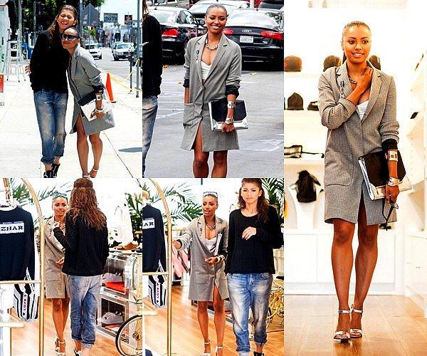. _________05.05.2014 I CANDID  _________Nous retrouvons Kat, en compagnie de - la géante - Zendaya Coleman, dans les rues de West_________ _________Hollywood faisant du shopping. Côté tenue, je n'aime pas trop sa veste faisant robe .. Par_________ _________contre, je suis complètement absolument fan de la tenue de Zendaya ! + Deux nouvelles vidéos_________ _________promotionnelles de l'épisode 5x21 « Promised Land ».