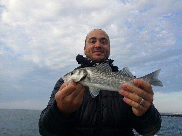 Sortie pêche au Bar avec Daniel Nicolet guide de pêche ultimate fishing.Je n'avais jamais vu un Bar encore étant donné que je pêche seulement en eau douce.Alors grand merci à Daniel pour ce superbe poisson de 64 cm.Tout a commencé avec un petit poisson puis la grosse touche sur la tenryu .