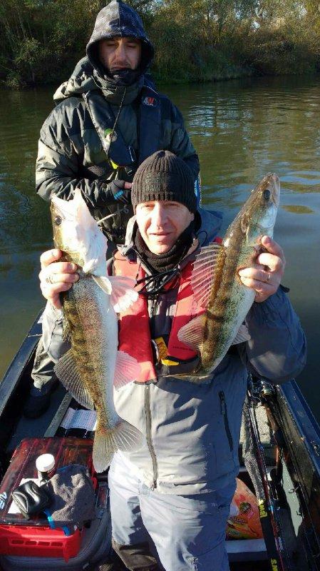 Session en seine dans le froid.Perche de 35 cm pour Bader et deux sandres pour yoyo 64cm et 57cm.