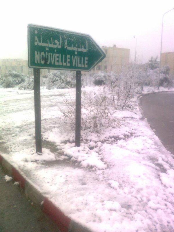 *** Nouvelle Ville, Tizi Ouzou Sous La Neige ***