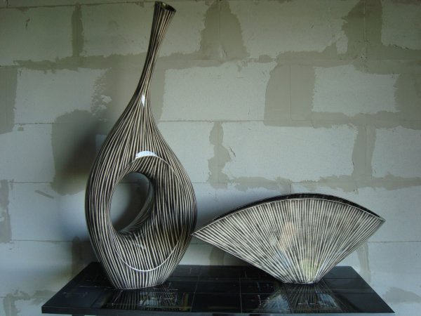 2 grands vases design bois exotic modernisme 2010 contemporain d jixc. Black Bedroom Furniture Sets. Home Design Ideas