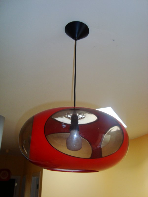 lampe ufo space age red luigi colani design 39 70 vintage pop art 3 d jixc. Black Bedroom Furniture Sets. Home Design Ideas