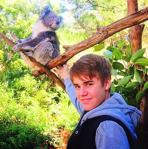 Instagram + Justin au Brésil