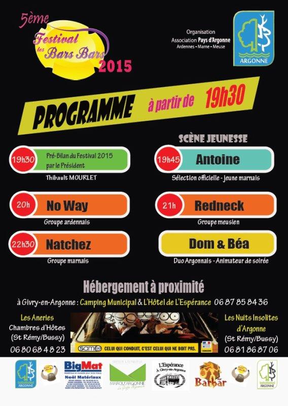 5ème Festival Les Bars Bars en ARGONNE