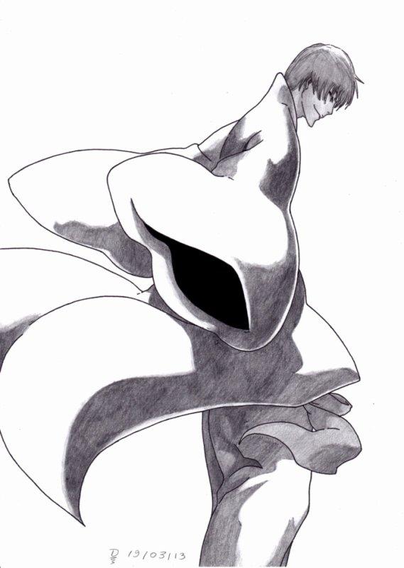 9ème Dessin : Gin Ichimaru ( Encore ) !