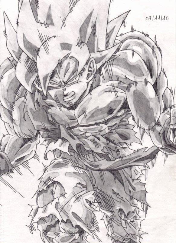 11ème Dessin : Sangoku ( Vieux dessin ) ... Manque d'inspiration !