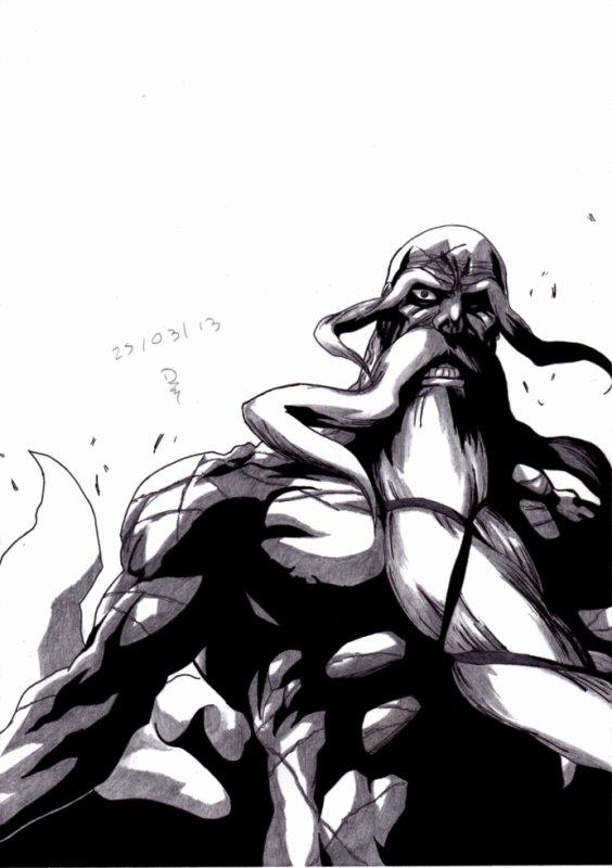 13ème Dessin : Yamamoto ( Bleach ) !