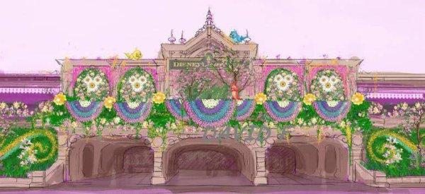 Festival du printemps: concept de Main Street Station