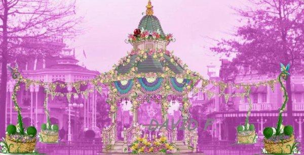 Festival du printemps: concept de Town Square
