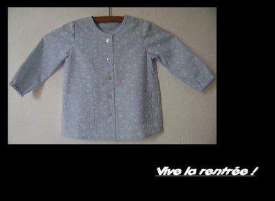 Ma première blouse d'écolière ...