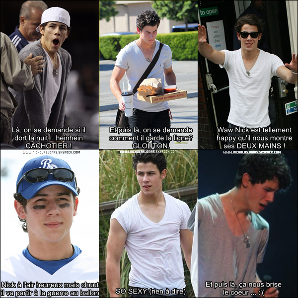 .  Nick Jonas dans tout ses états, sous toutes les formes.   Bref du Nick Jonas quoi ... ;)  .  .