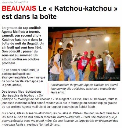 LE CLIP « Katchou-katchou » EST DANS LA BOITE >>> ARTICLE DU COURRIER PICARD <<<