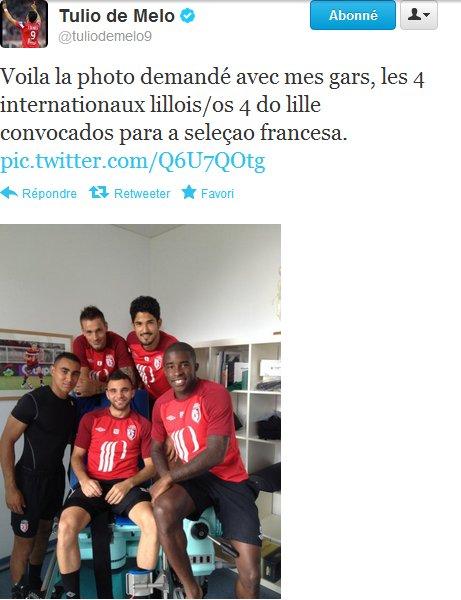 Photo Twitter Tulio De Melo / Un troisième maillot taillé par Umbro
