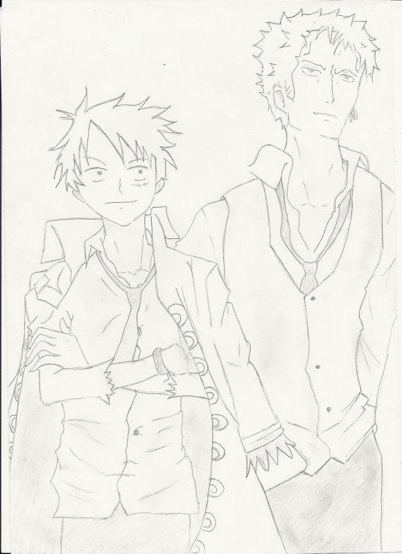 Zoro et son capitaine Luffy!