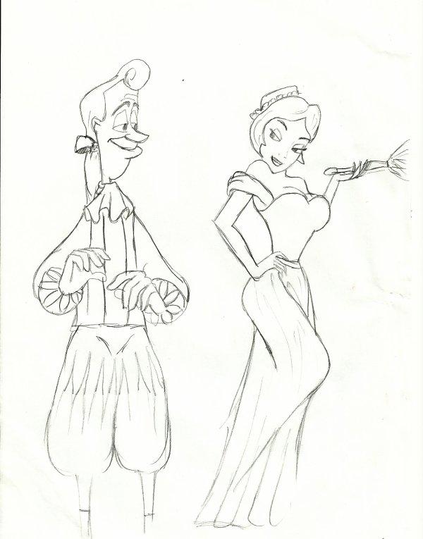 Lumiere et.... la dame XD