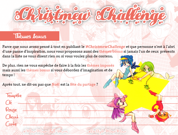 Viens passer un Mewveilleux Noël avec tes héroïnes favorites et le #ChristmewChallenge!