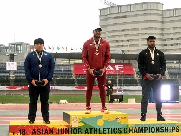 المنتخب القطري في المركز  السادس حسب الفرق في البطولة الأسيوية لألعاب القوى 2018